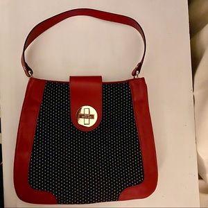 NWOT Red Kate Spade shoulder bag purse Polka dots